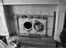 drug labs fireplace venting